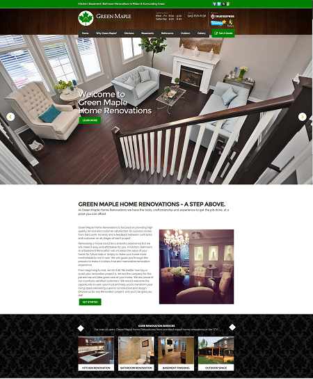 Web Design For Home Contractors And Renovation Companies Stunning Home Interior Design Websites Remodelling
